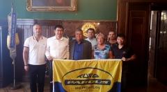 Zástupci gigantu Taishan Sports Group, divize Pardus v Prostějově.