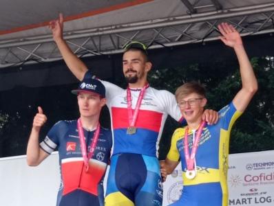 Mistrem České republiky v silničním závodě kategorie U23 je Daniel Babor